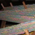 Cotton flannel on warping board