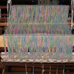 Cotton flannel on loom back beam