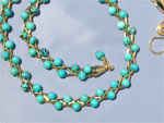 Braided necklace - turquoise & 14K gold-filled