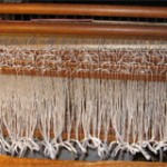 The heddles are threaded