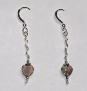 Leopardskin Jasper & Sterling Silver Handmade Earrings