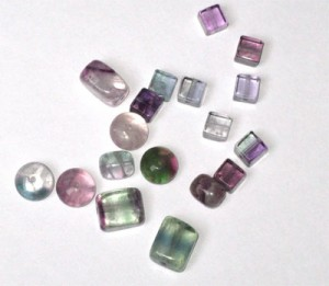 Several colors of fluorite