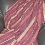 handwoven rayon chenille throw