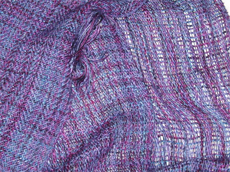 handwoven wool-silk scarvces