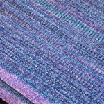 rayon chenille scarf surreal warp blue weft