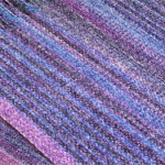 rayon chenille surreal with purple