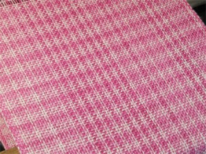tabby pink bamboo cotton handwoven scarf