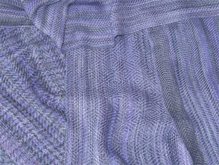 handwoven scarves - blue-violet