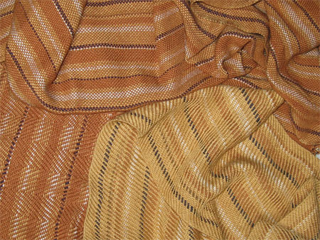handwoven scarves-brown stripes