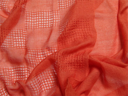 orange handwoven cashmere silk scarves