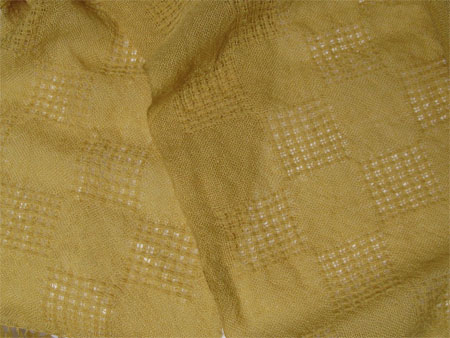 yellow handwoven wool lace scarves