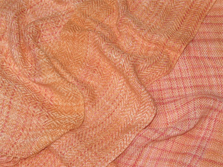 bamboo handwoven scarf, orange marmalade
