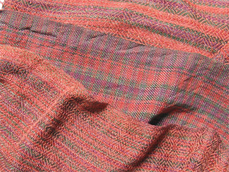 handwoven scarves, Egyptian cotton copper