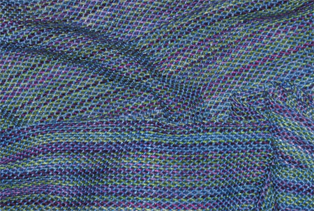 handwoven bamboo scarf, north shore & blue