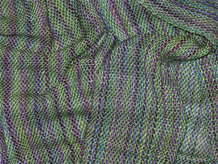 handwoven bamboo scarf, north shore & green