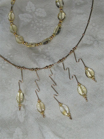 handmade necklace citrine