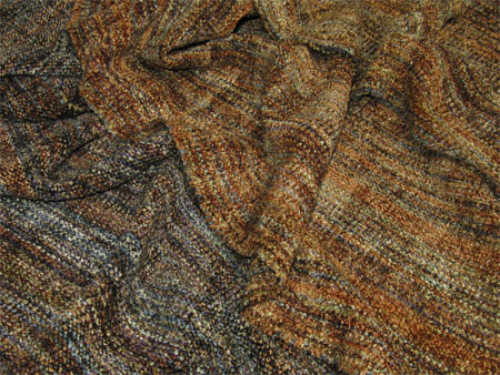 handwoven rayon chenille scarves, Chino