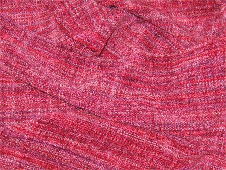 handwoven rayon chenille scarf, poinsettia