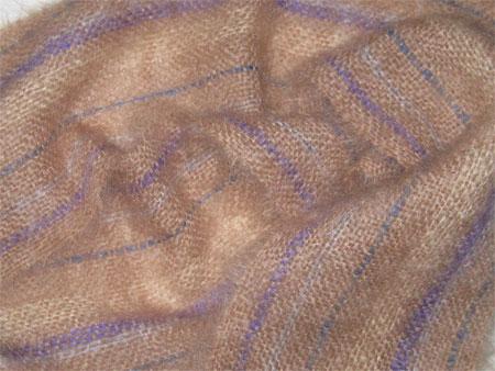 handwoven mohair scarf