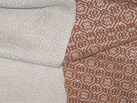 handwoven bamboo scarves, eggshell