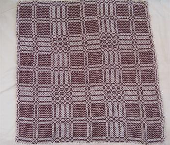 burgundy handwoven napkin