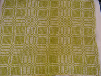 chartreuse handwoven napkin