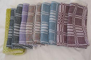 10 handwoven napkins