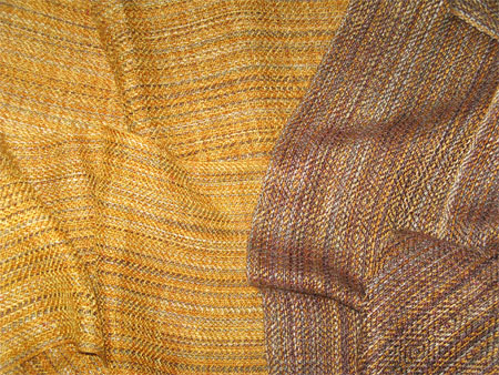 handwoven rayon scarves - cappuccino