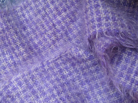 purple & silver handwoven mohair scarf