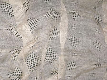 eggshell cashmere silk handwoven scarves