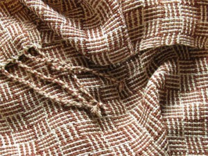 handwoven bamboo scarves, log cabin