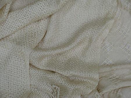 handwoven silk scarves, eggshell