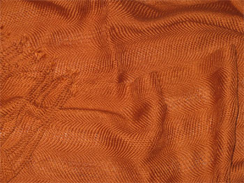 handwoven cotton scarf, copper waves