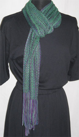 north shore & emerald bamboo cotton handwoven scarf