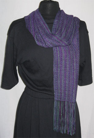 north shore & purple handwoven bamboo & cotton scarf