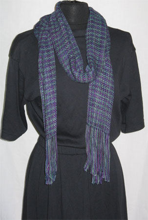 north shore bamboo & cotton handwoven scarf
