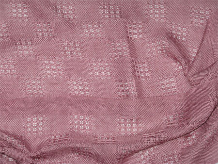 handwoven silk scarves, lace blocks