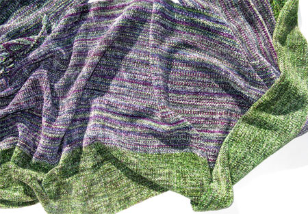 North Shore rayon chenille handwoven shawl