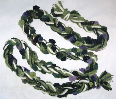 dappled forest braided scarf