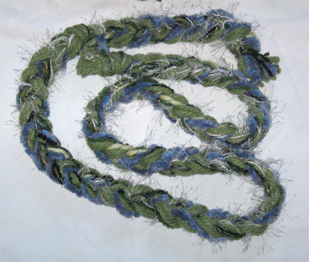 early snow in the hills braided scarf