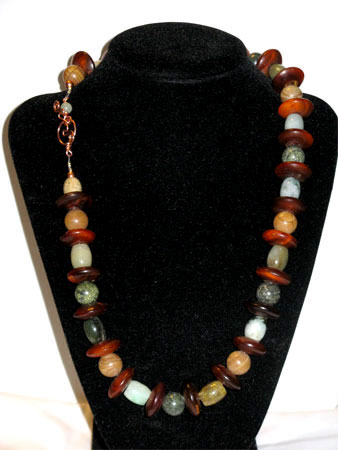 horn and gems necklace