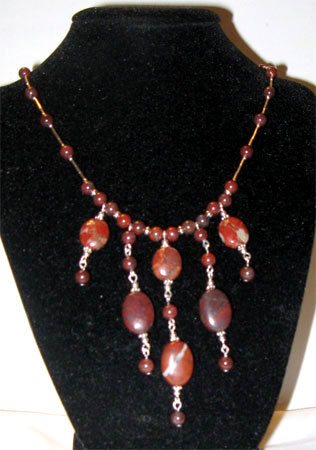 poppy jasper dangles necklace