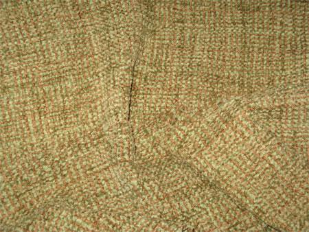 handwoven scarf, organic cotton chenille, sage & mocha