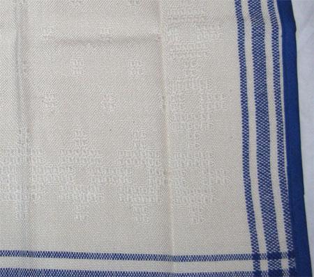 blue & white huck napkin