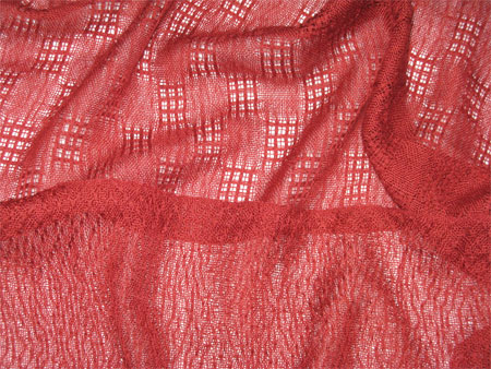 handwoven cashmere & silk scarves, brick