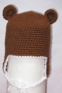 crocheted monkey hat