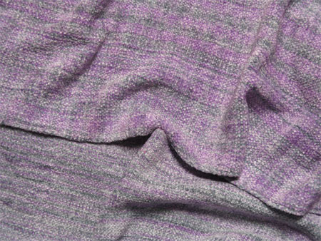 handwoven scarves, rayon chenille Silver Linings