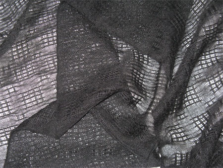 handwoven black lace cashmere scarves