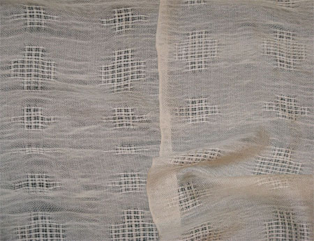 cashmere & silk handwoven scarves, eggshell lace