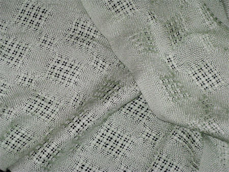 handwoven silk scarves, mint lace